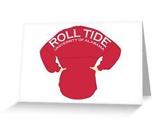 University of Alabama - Roll Tide Spirit Jersey Greeting Card