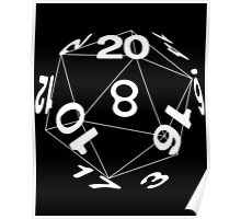 Tabletop role playing games magic dice art Poster