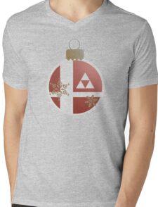 Super Smash Christmas - Legend of Zelda Mens V-Neck T-Shirt