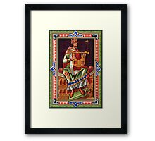 King with a String Thing Framed Print