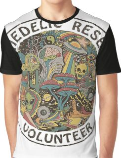 PSYCHEDELIC RESEARCH VOLUNTEER T SHIRT Graphic T-Shirt