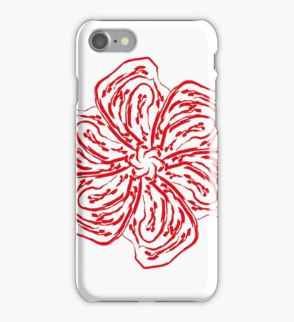 Red Blossom  iPhone Case/Skin