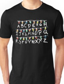 Christmas Lights Alphabet From Stranger Thing T-Shirt Unisex T-Shirt