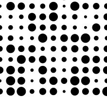 Black and White Polka Dots by BuzzEdition