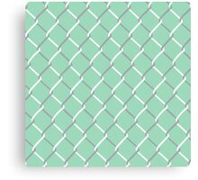 Chain Link on Mint Canvas Print