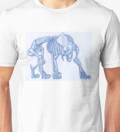 Skeleton Saber Tooth Tiger  Unisex T-Shirt
