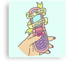 Kill selfie culture emoji tumblr trendy pastel 90s print Canvas Print