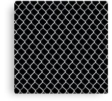 Chain Link on Black Canvas Print
