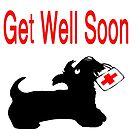 Scottie Dog 'Get Well Soon' by archyscottie