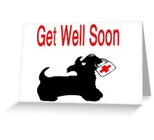 Scottie Dog 'Get Well Soon' Greeting Card