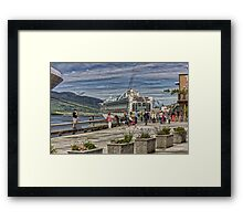 Ketchikan's tourist season 3 Framed Print