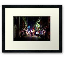 Ueno night Framed Print