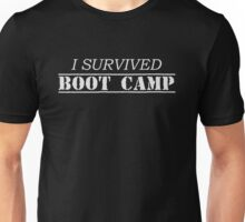 I Survived Boot Camp Military Armed Forces Duty  Unisex T-Shirt