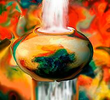 floating pottery with a waterfall by Sherri     Nicholas