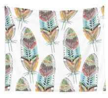 Boho Feathers Wall Tapestry