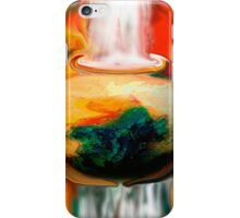 floating pottery with a waterfall iPhone Case/Skin