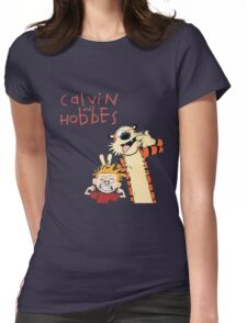 Calvin and Hobbes Funny Face Womens Fitted T-Shirt