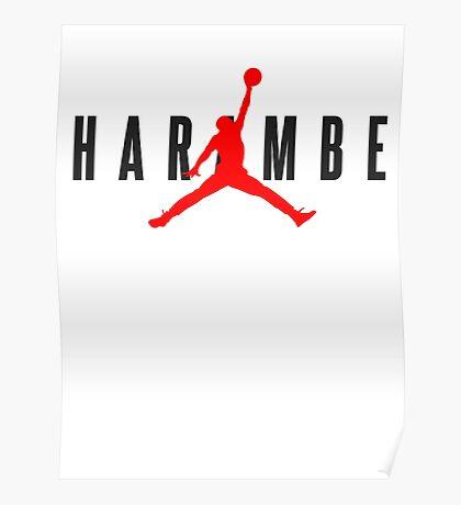 Harambe Jordan Poster