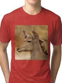 Kudu Bull Calf - Innocent Beauty Tri-blend T-Shirt