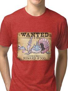 Alolan Kingler & Krabby - Most Wanted Poster Tri-blend T-Shirt