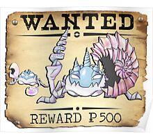 Alolan Kingler & Krabby - Most Wanted Poster Poster