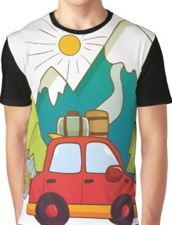Going Into The Wild / Travel Inspirational Illustration Graphic T-Shirt