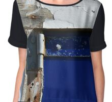 """""""Blue Perspective"""" Chiffon Top"""