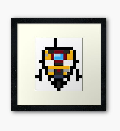 Pixel Claptrap Framed Print