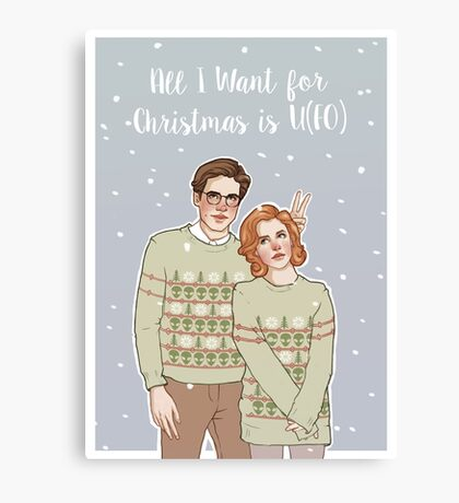 all i want for xmas is u(fo) Canvas Print