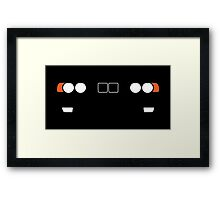 BMW 5 Series (E34) headlight and kidney grill design Framed Print