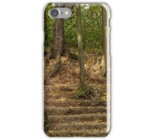 Stairs dug earth in autumn iPhone Case/Skin