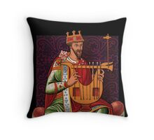 King with a String Thing Throw Pillow