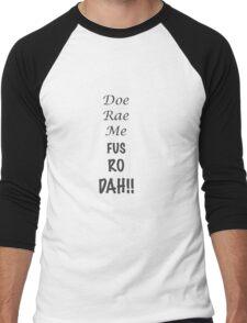 Doe Rae Me FUS RO DAH Men's Baseball ¾ T-Shirt