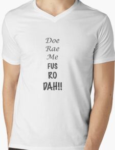 Doe Rae Me FUS RO DAH Mens V-Neck T-Shirt
