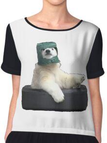 Bucket bear - Polar Bear meme Chiffon Top