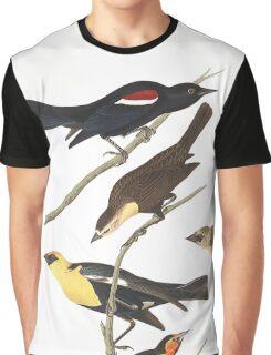 Black Birds - John James Audubon  Graphic T-Shirt