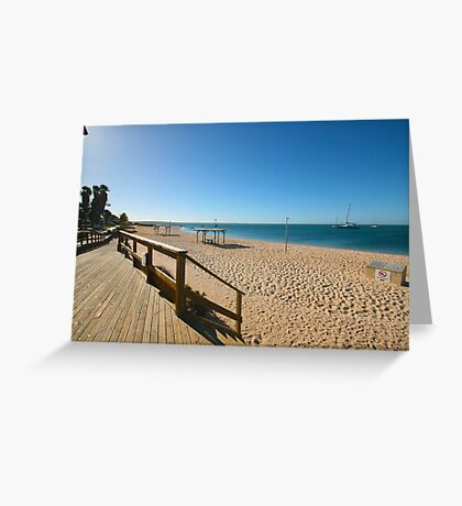 Monkey Mia Beachfront Greeting Card