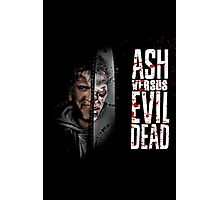 between ash and evil  Photographic Print