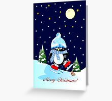 The skating penguin (II) Greeting Card