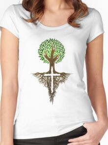 Rooted in Christ Women's Fitted Scoop T-Shirt