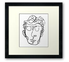 Continuous line drawing of a man Framed Print
