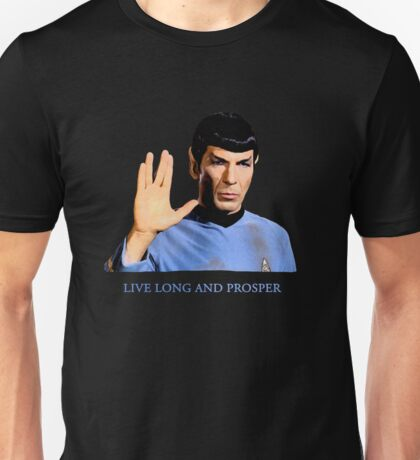 Spock - Live Long And Prosper - Star Trek Unisex T-Shirt