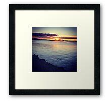 Sunset, at the edge of Australia Framed Print