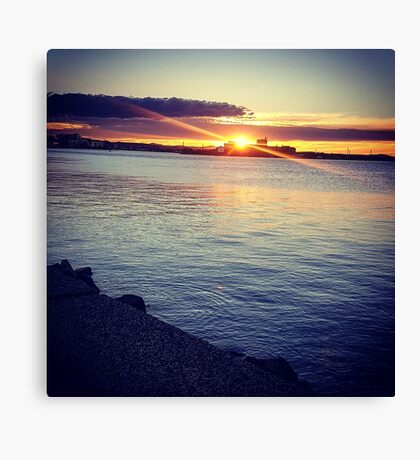 Sunset, at the edge of Australia Canvas Print