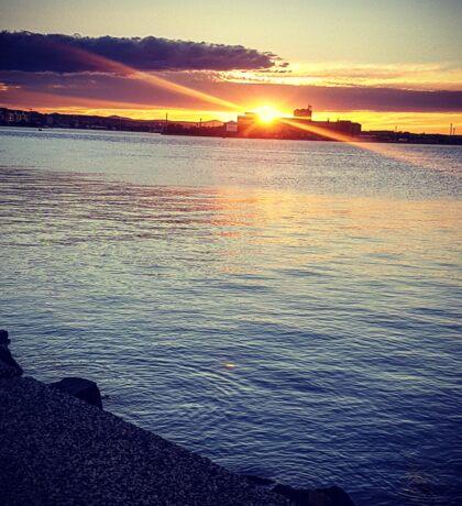 Sunset, at the edge of Australia Sticker