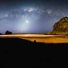 Milky Way over Piha NZ  by earlcooknz