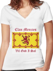 Menzies - Scottish Clan Women's Fitted V-Neck T-Shirt