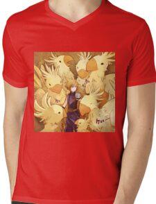 Cloud & Chocobo Mens V-Neck T-Shirt