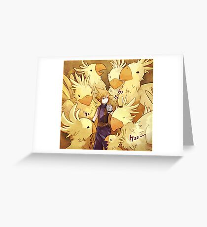 Cloud & Chocobo Greeting Card