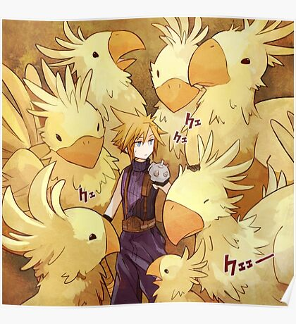Cloud & Chocobo Poster